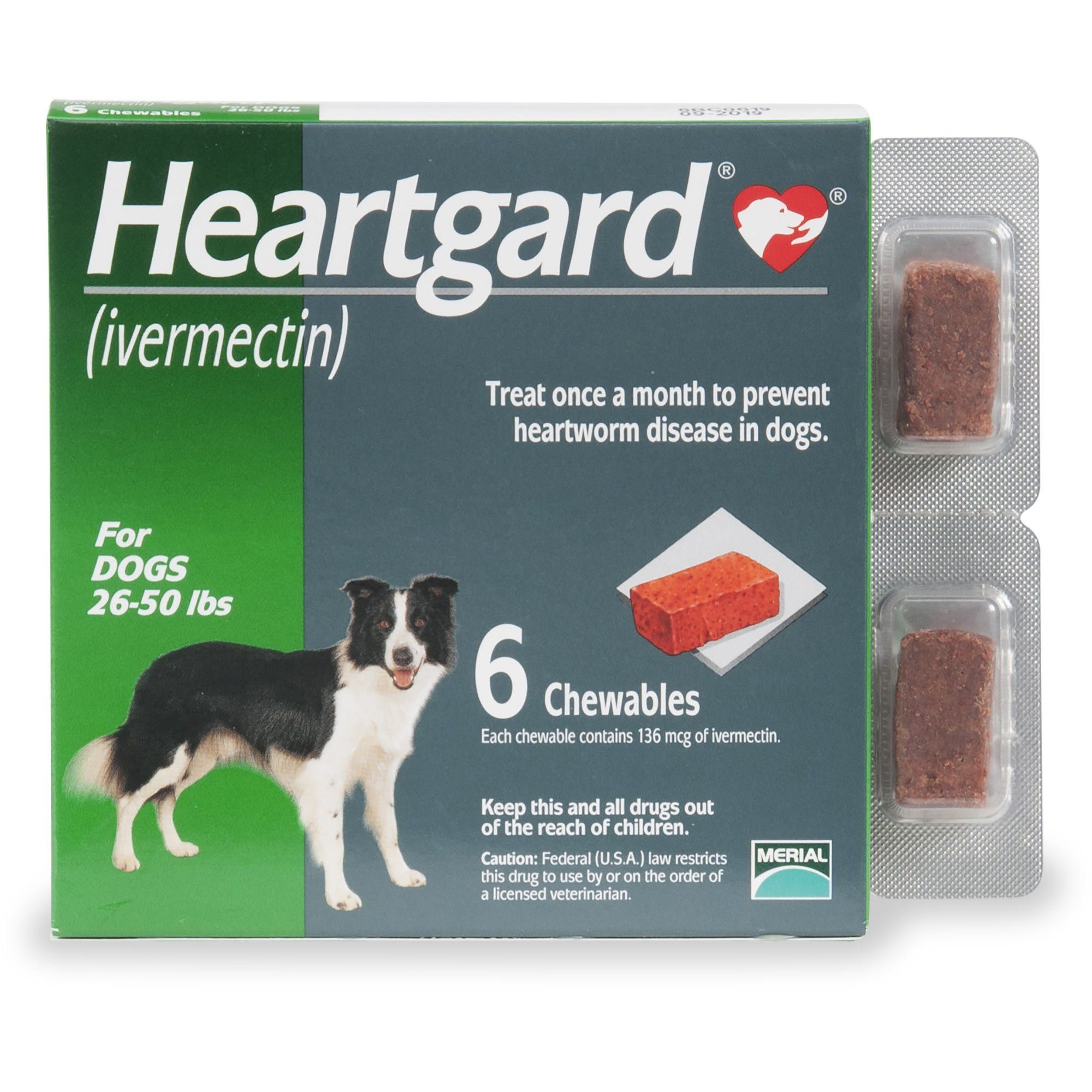 Heartgard Chewables For Dogs 26 To 50 Lbs 12 Pack 12 Ct Dogs