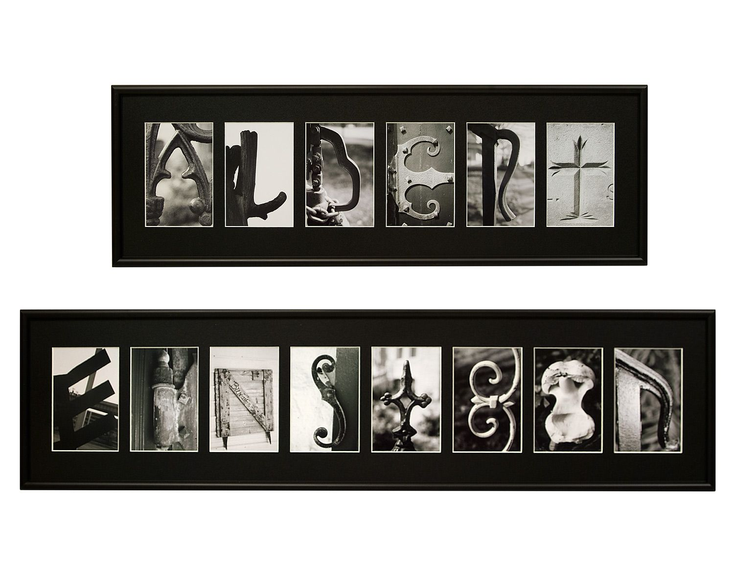 Personalized Black White Photo Wall Art Fun Project For When I Have A Fancy Camera Personalized Photo Art Name Wall Art Photo Wall Art