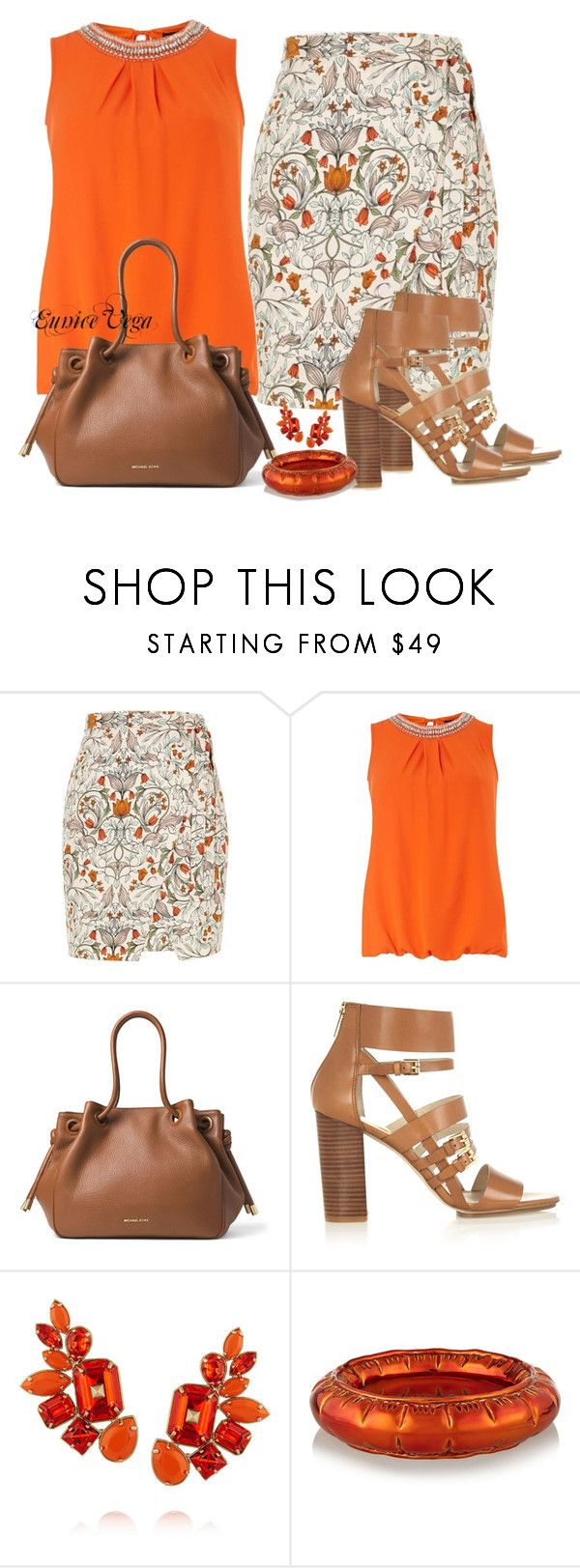 """""""Simple"""" by eunice-perez-de-vega ❤ liked on Polyvore featuring River Island, Dorothy Perkins, MICHAEL Michael Kors, Valentino and MM6 Maison Margiela"""
