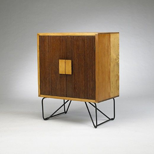 Luther Conover, Pine and Iron Cabinet,, 1950s.
