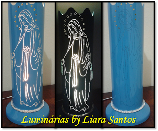 Luminárias By Liara Santos: Luminária Nossa Senhora das Graças
