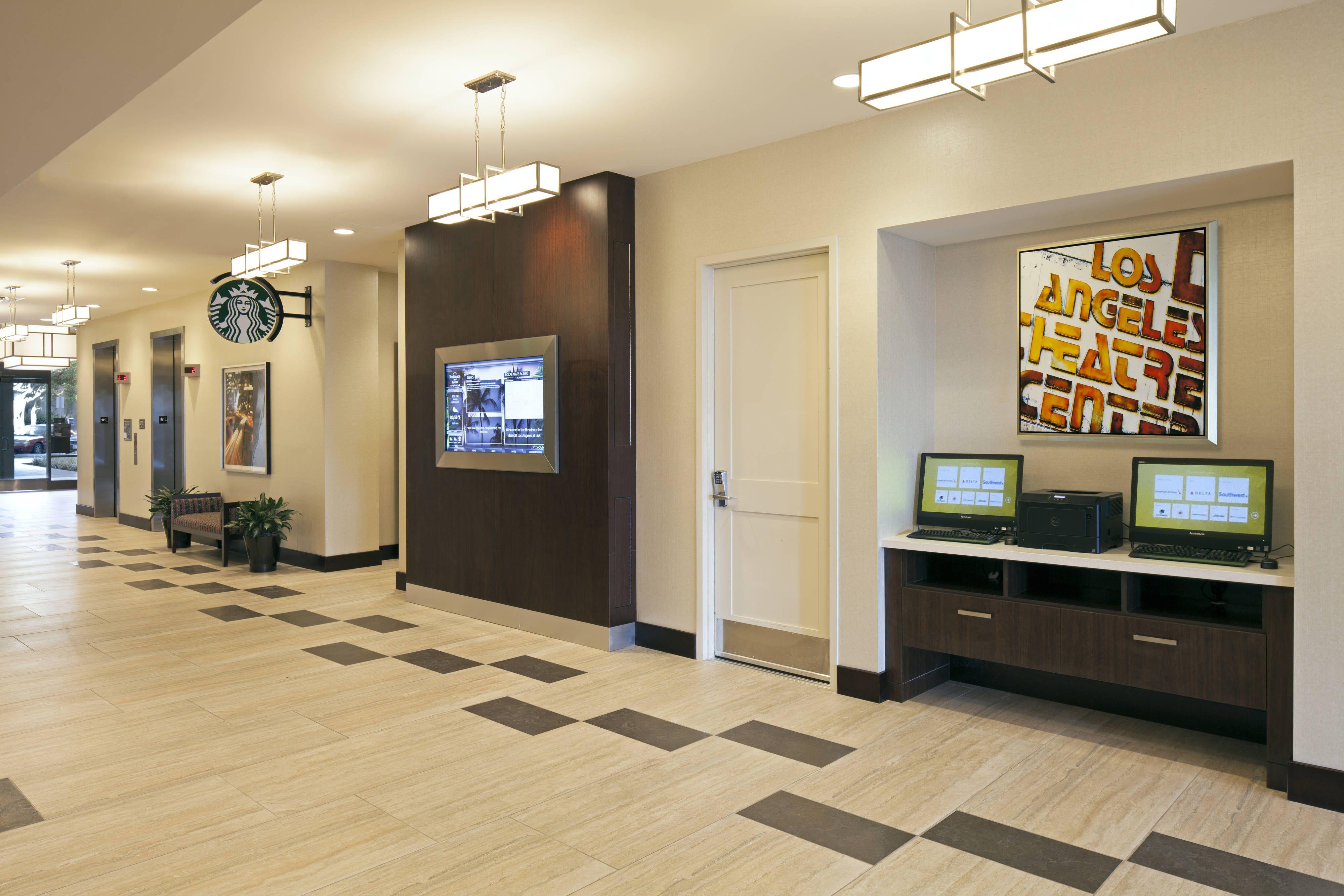 Residence Inn Los Angeles Lax Century Boulevard Boarding Pass Print Station Beautiful Comfortable Suite Residences Inn Hotel Suites