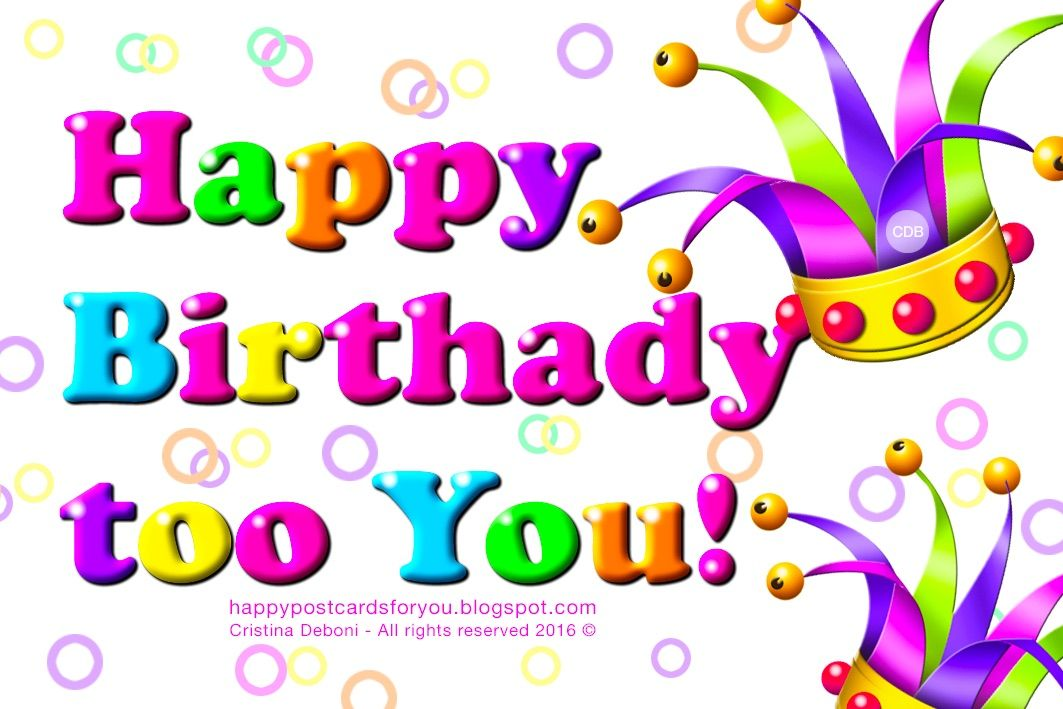 Colored and funny greeting card HAPPY BIRTHDAY to You
