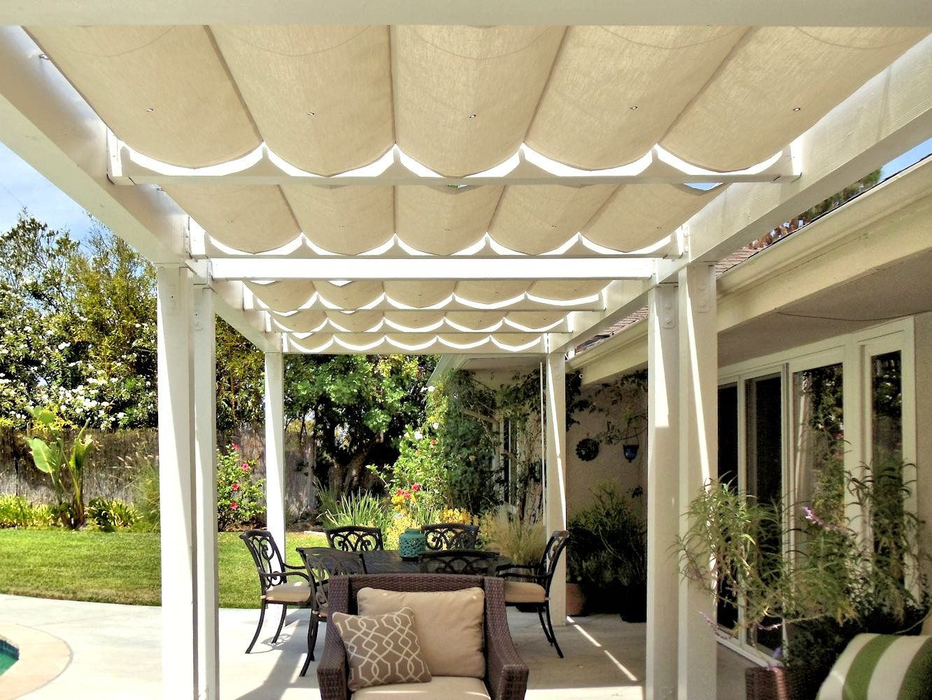 Slide Wire Patio Canopy & Slide Wire Patio Canopy | Hamilton Res | Pinterest | Canopy ...