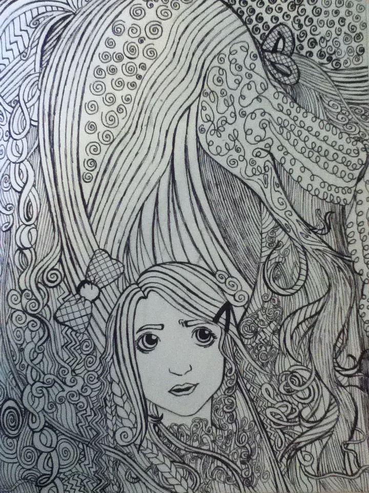 Doodle Art Hair Designs Doodle Sketch