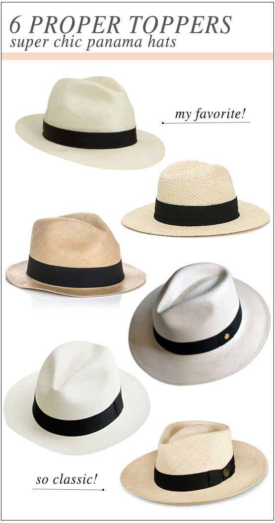 6 Super Chic Panama Hats For Summer  82609a1a995