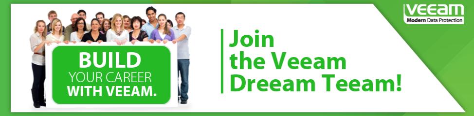 Veeam careers page on LinkedIn.