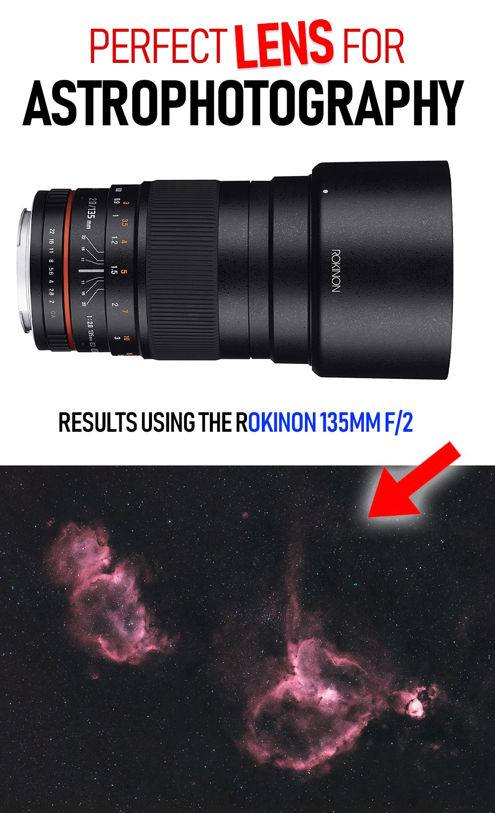 The Rokinon 135mm F 2 Was Built For Astrophotography Astrophotography Nikon D5200 Photography Camera Lens