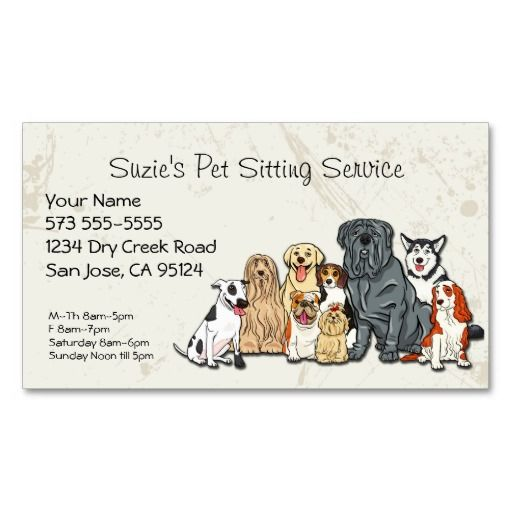 Cute Dogs Pet Sitting Service Business Card Zazzle Com Pasear Perros Perros