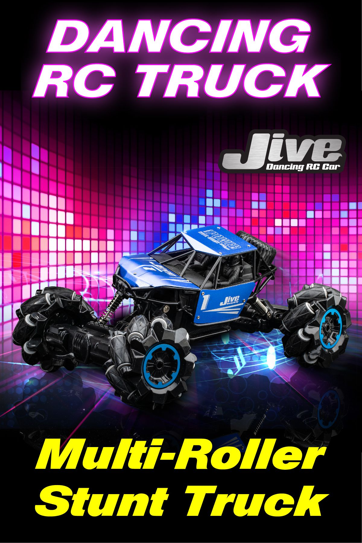 Jive RC Truck Remote Control Car for Kids Monster