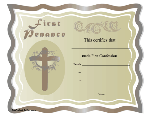 For The Occasion Of A Catholic Child S First Confession
