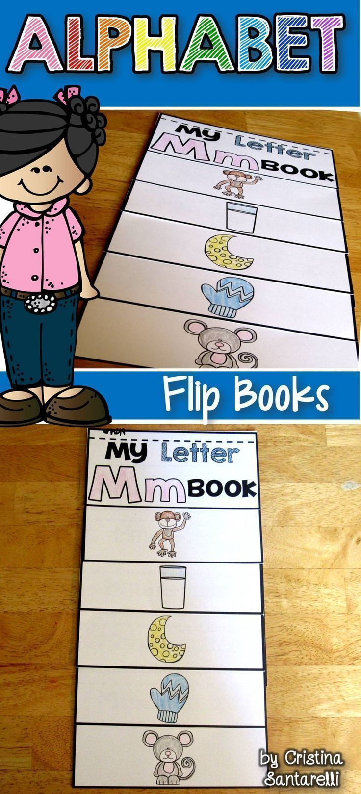 Alphabet flip book | Actividades niños y Actividades