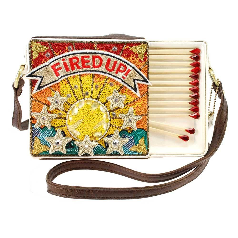 Mary Frances Fired Up Embellished Match Book Crossbody Handbag