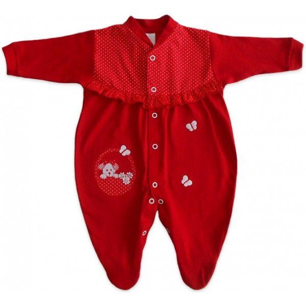 Macacão Vermelho para Bebê Menina  04083541327