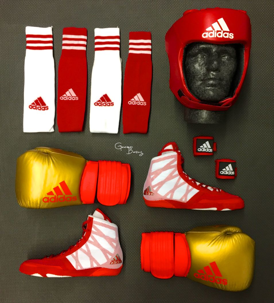69c4630eebb ADIDAS SPARRING COMBO!! Featuring the NEW Adidas Pretereo Boots and Hybrid  300 Boxing Gloves