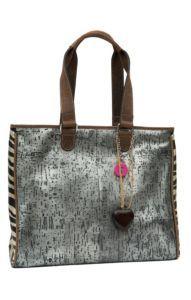 Consuela® Couture Manhattan Metallic Silver with Zebra Grande Tote   Cavender's