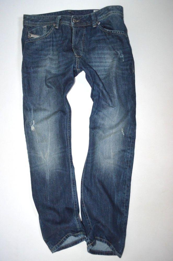 d48051e3 NEW mens DIESEL DARRON 0R0LM urban Regular Tapered SLIM Leg JEANS size W31  L30 #Diesel #Tapered