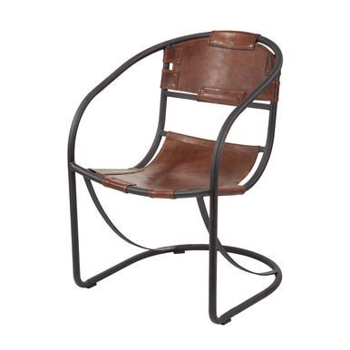 Dimond Home Retro Round Back Leather Lounger