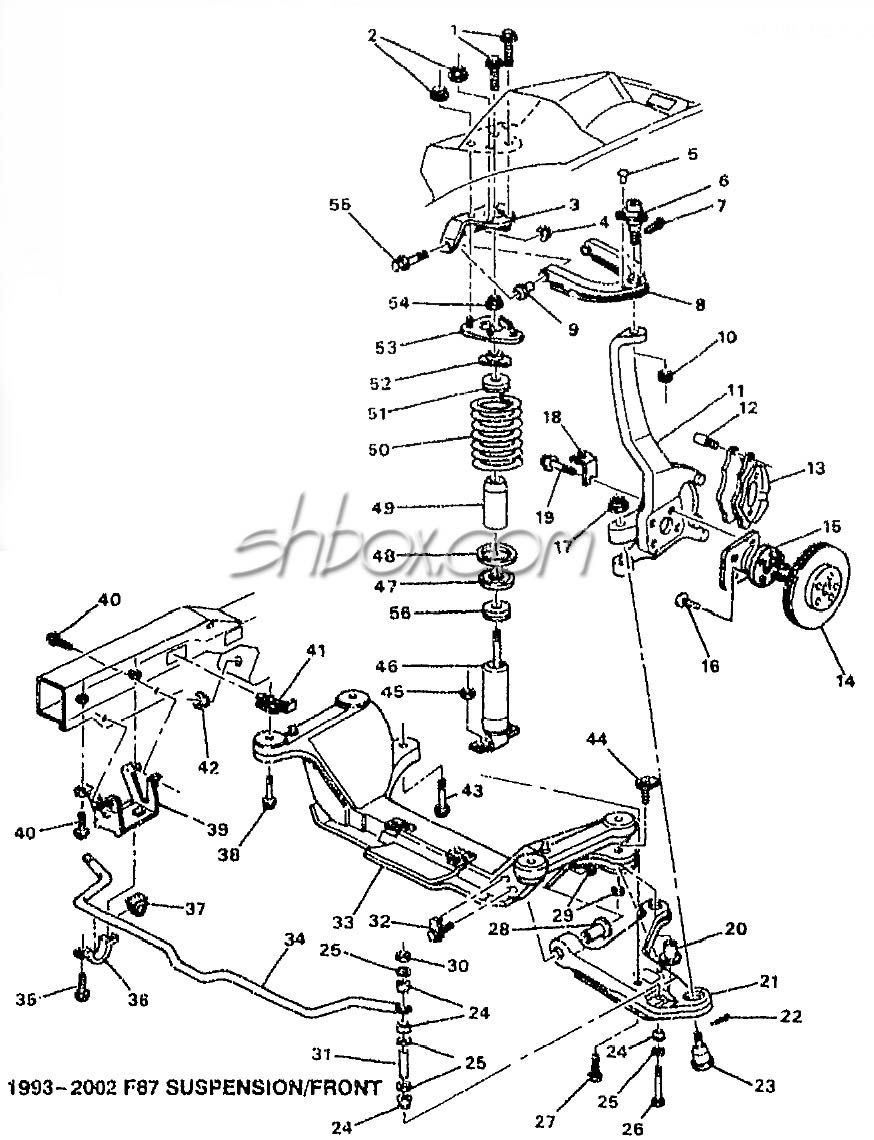 Camaro front suspension diagram
