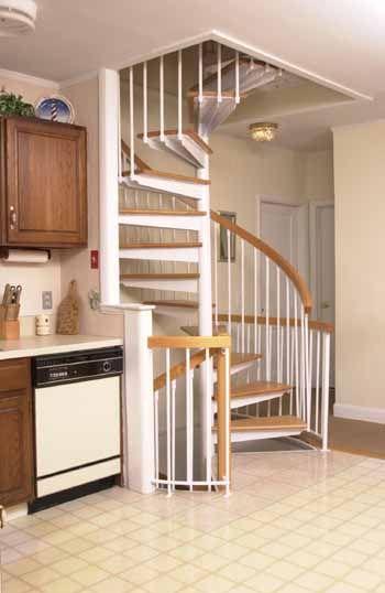 Superb Tandem Oak Spiral Stairs