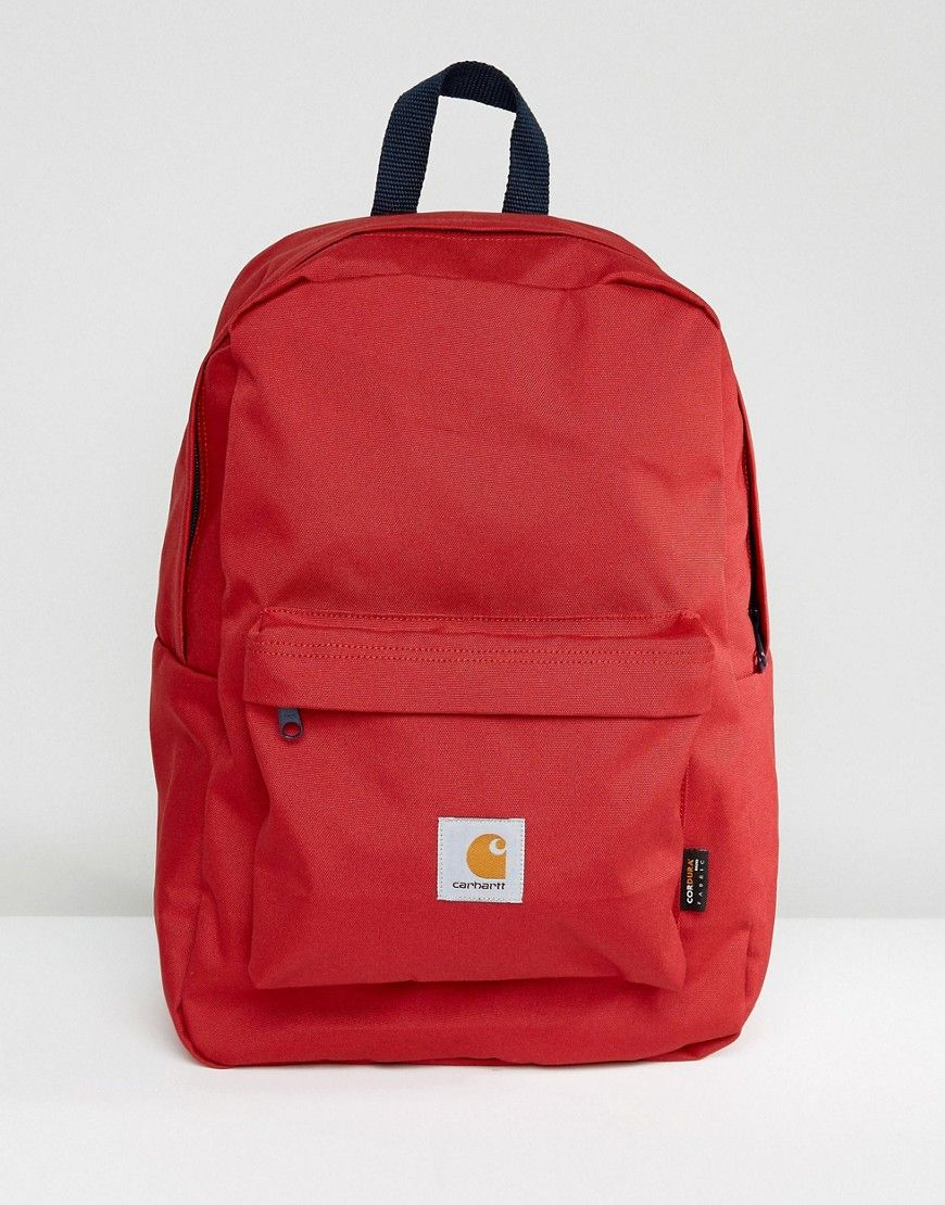 CARHARTT WIP WATCH BACKPACK - RED.  carhartt  bags  canvas  backpacks   polyester