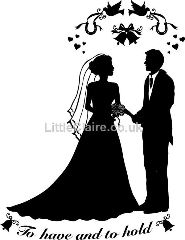 Line Drawing Wedding Couple : Silhouette wedding couple clear stamp draw pinterest