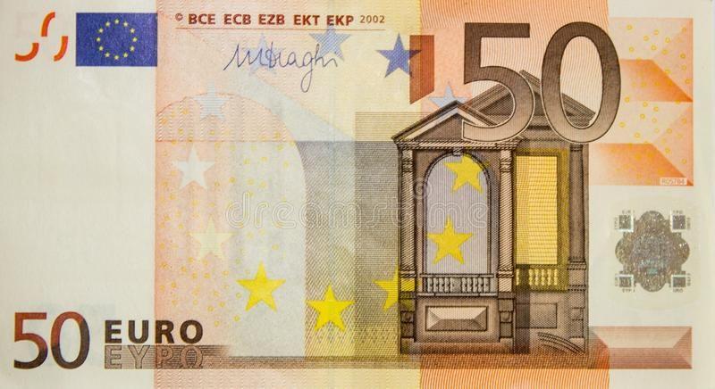 50 Euros One Banknote 50 Euros European Paper Money Ad