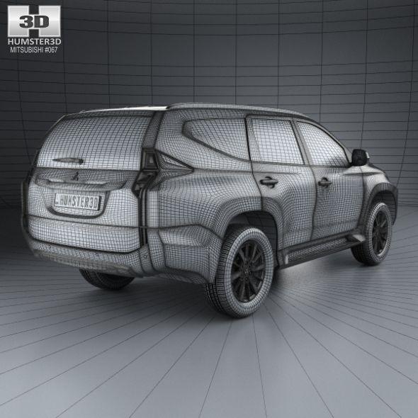 Mitsubishi Pajero Sport Th 2016 3d Model: Mitsubishi Pajero Sport (TH) 2016