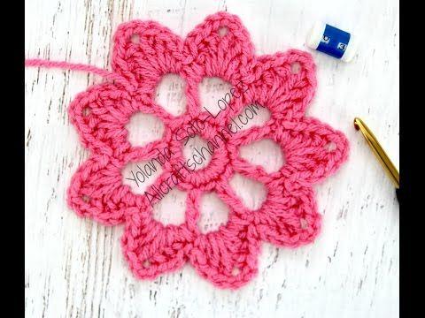 Carpeta a crochet para Mesa de Luz tutorial paso a paso - YouTube ...