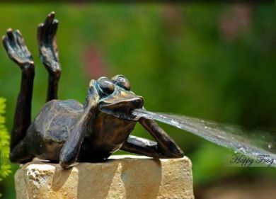 Small Garden Fountains Water Features | ... WATER FEATURES - Small Bronze  Fountain -