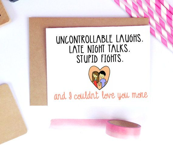 Boyfriend Card Husband Gift For Him Valentines Lailamedesigns