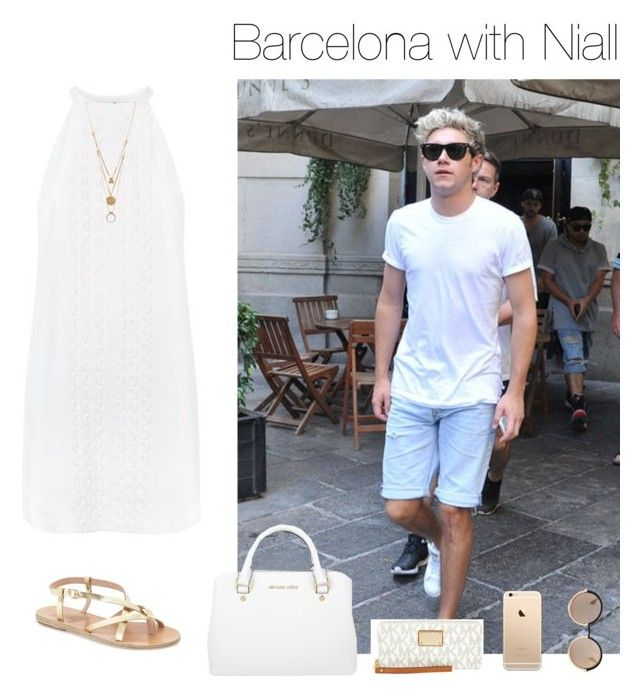 """""""Barcelona with Niall"""" by chanelniall ❤ liked on Polyvore featuring A.L.C., Maison Margiela, Ancient Greek Sandals, Michael Kors and Marc by Marc Jacobs"""