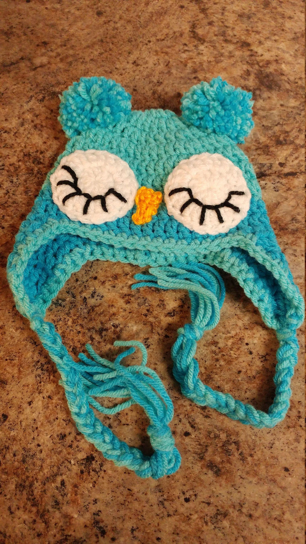 Baby Owl Hat, Owl Ear Flap Hat, Owl Hat, Crochet Owl Hat, Boy Owl ...
