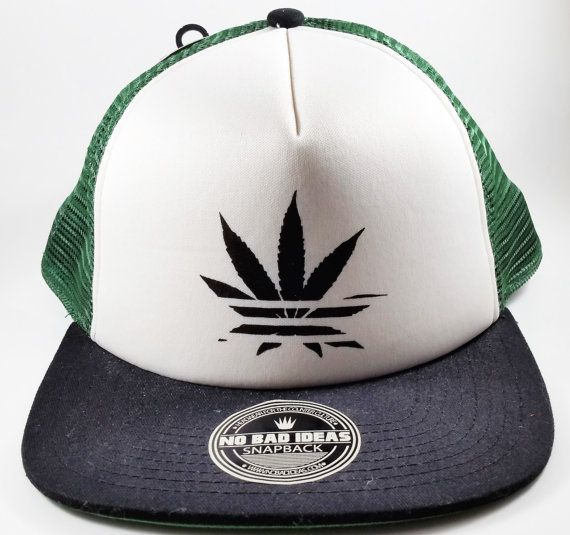 sports shoes f8473 8f2d8 ... best price no bad ideas snapback trucker cap marijuana leaf 48890 d68f0