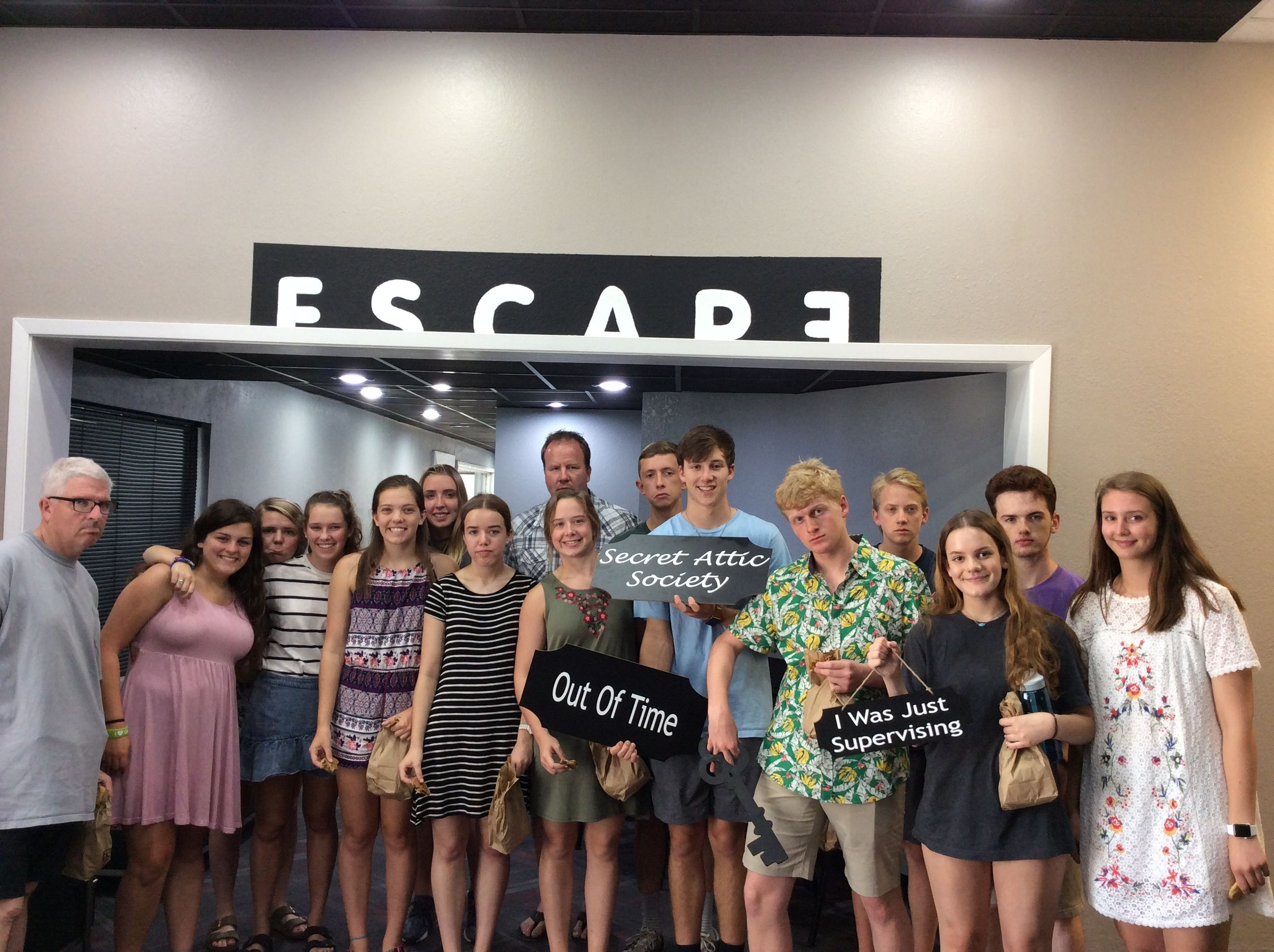 This Group Got Stuck In The Secret Attic Society Escape Room Society Broadway Shows