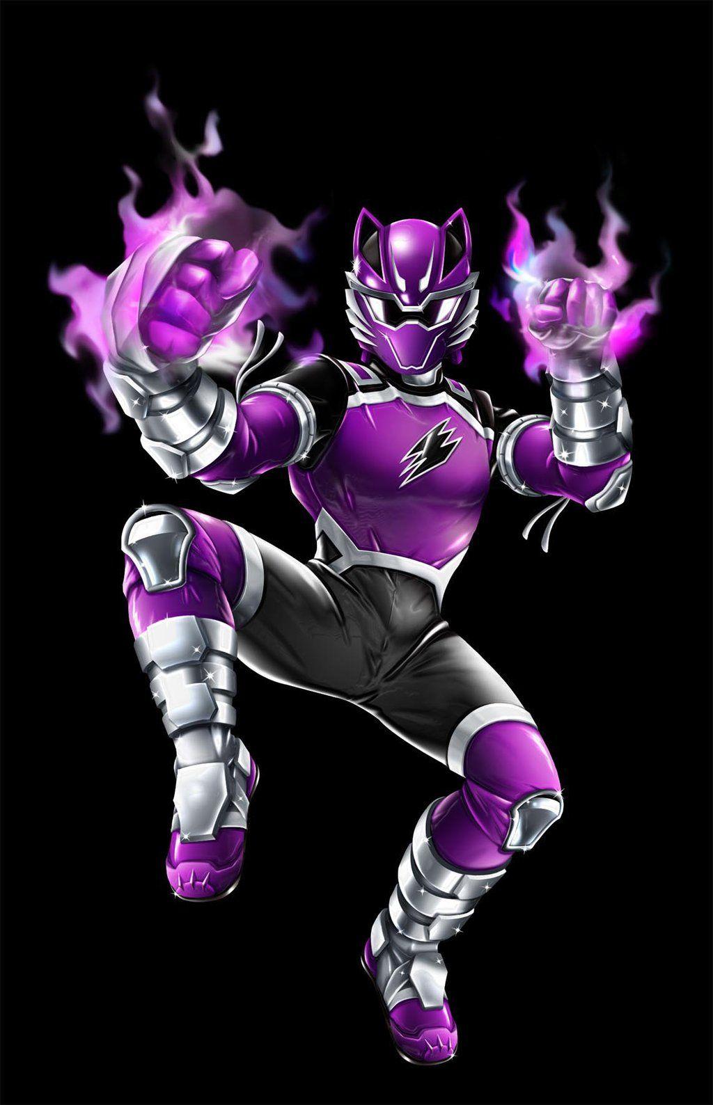 Power Ranger Jungle Fury Violet Wolf Ranger Power Rangers