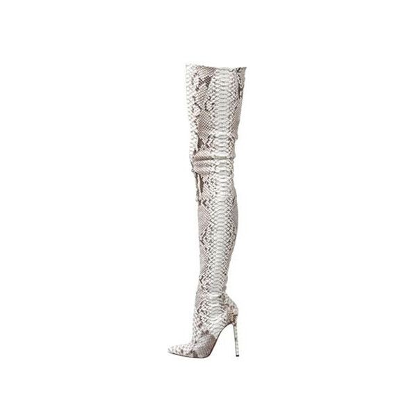 cheap christian louboutin pigalle python over the knee boots sale rh pinterest com