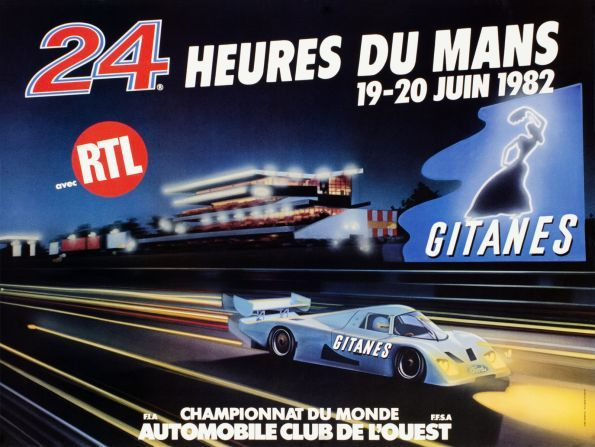 le mans 24h du mans 1982 24 hours of le mans 1982 original poster for the world famous car. Black Bedroom Furniture Sets. Home Design Ideas