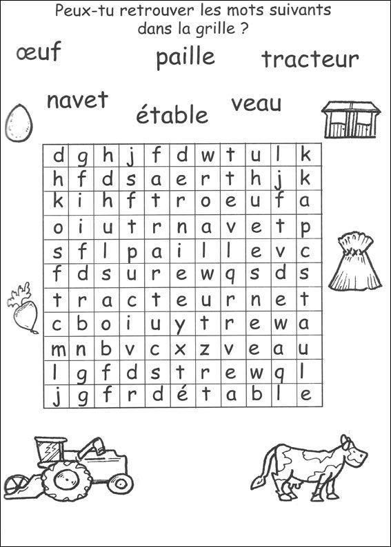 jeu du mot myst re imprimer lecture r daction outils de langue education worksheets et. Black Bedroom Furniture Sets. Home Design Ideas