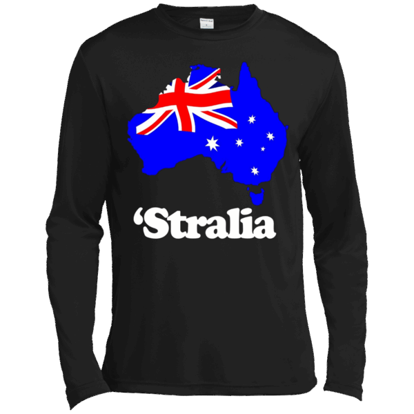 Stralia Australia Flag Map Australian Slang Funny T Shirt Long