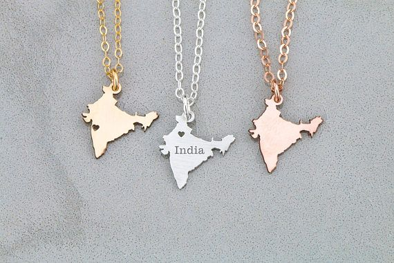 Photo of India Necklace Wanderlust Jewelry • India Charm Country Asian Necklace • Asia Charm Necklace Gift Country Pendant Travel Charm – crazy stupid love