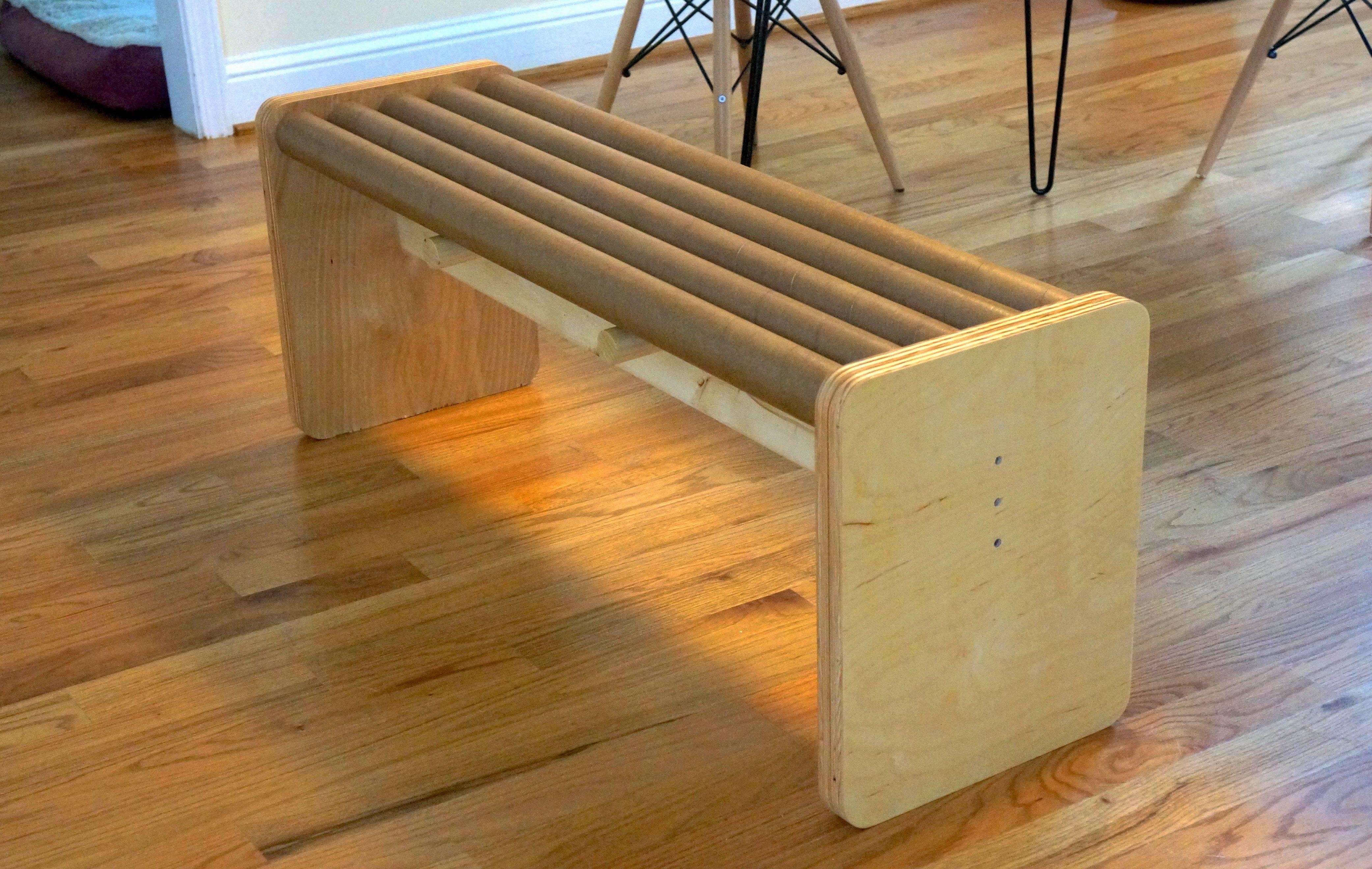 make cardboard furniture. Build A Modern Bench With Cardboard Tubes Make Furniture