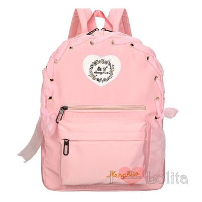 3 colors kawaii sweet heart lace backpack lk17040725