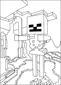 Printable Minecraft Games Skeleton Coloring Page Minecraft