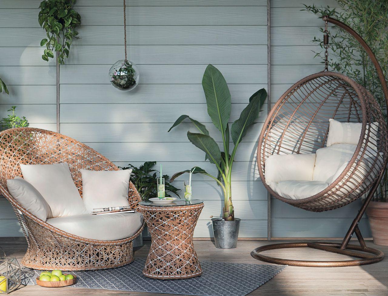 pour bien profiter du balcon de la terrasse et du jardin on craque cette anne pour des meubles dextrieur aussi beaux que ceux du salon - Salon Jardin Design