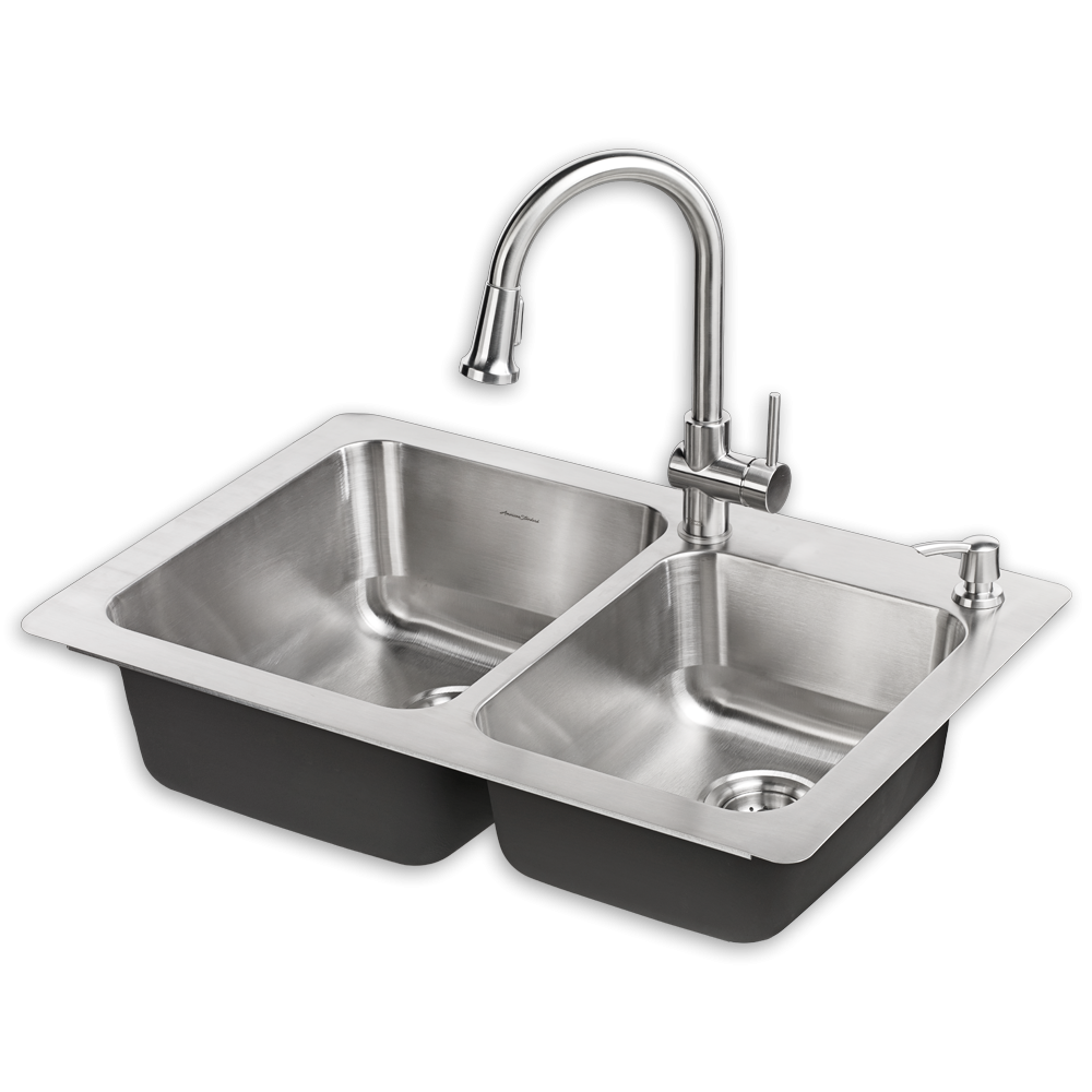 Kitchen Sinks And Faucets Montvale 33 X 22 Kitchen Sink With Faucet American Standard