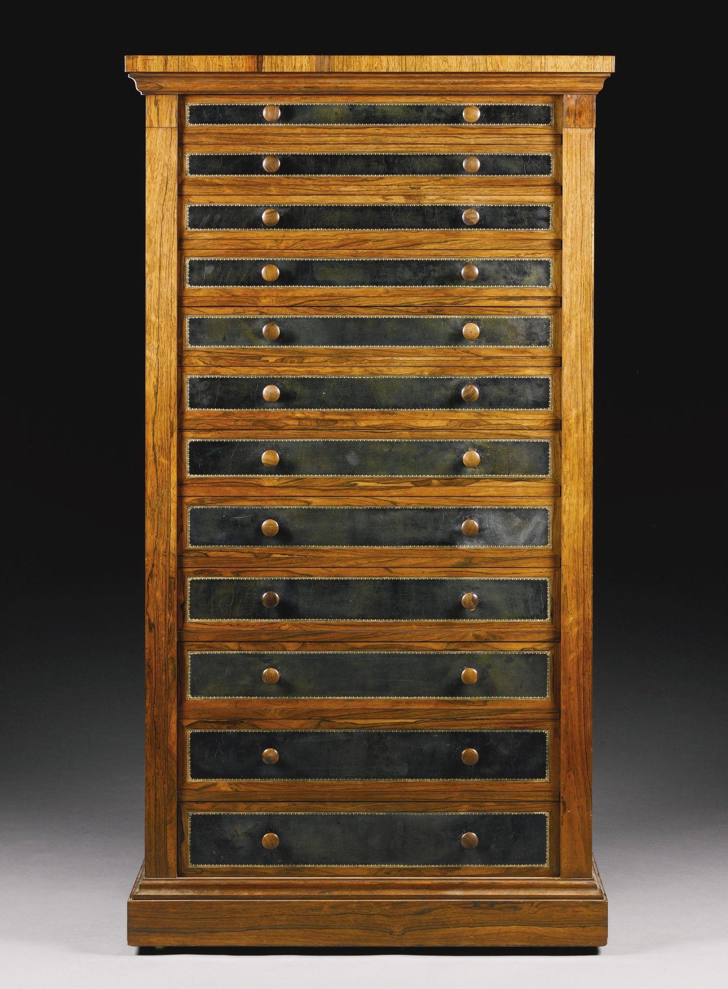 A George Iv Rosewood Wellington Chest Circa 1830 Lot Sotheby S Vintage Storage Cabinet Cupboard Vintage Furniture