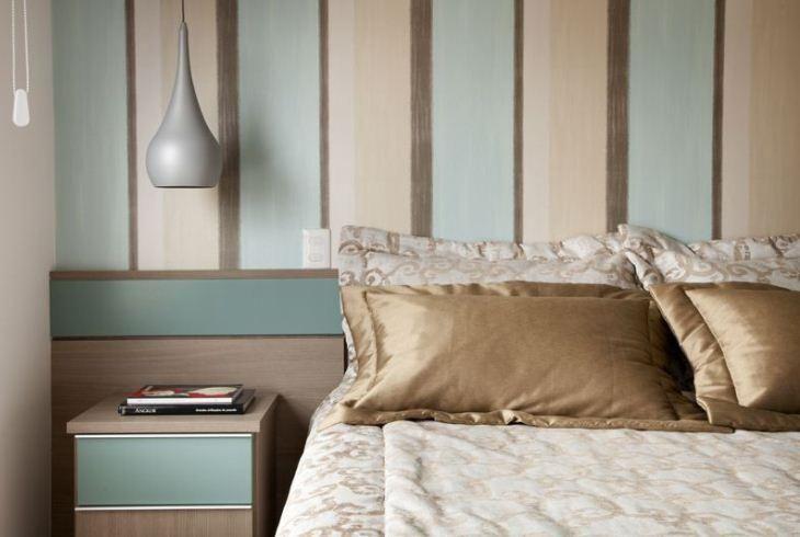 70 quartos de casal com papel de parede para te in