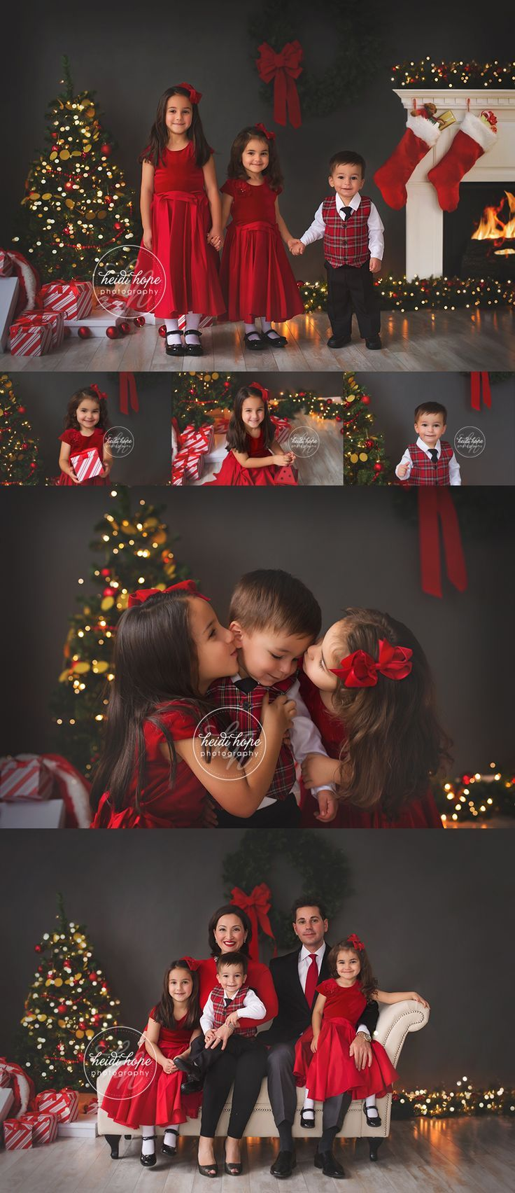 christmas portraits in the studio by rhode island family photographer #backdropsforphotographs