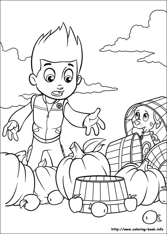 Paw Patrol Coloring Picture 2 Color Cute Paw Patrol